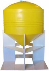 Бункер из полиэтилена с конусным дном